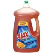 Ajax Triple Action Orange Dish & Hand Soap, 2660ml, Cuts Grease, Fights Odours, Washes Away Dirt and Bacteria