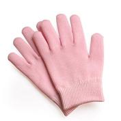 TheWin Moisturising Silicone Gel Heel Protectors Gloves, Pink