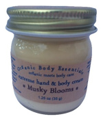 ORGANIC BODY ESSENTIALS Extreme Hand & Body Cream Musky Blooms, 35ml