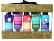 La Bella Provincia Aromatherapy Body Care Collection 5 Pc Bath Set - Shower Gel, Body Lotion, Shower Cream, Bubble Bath
