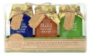 La Bella Provincia Aromatherapy Sugar Scrub Collection 3 Pc Gift Set - Jasmine Lavender, Orange Gingergrass, Royal Relief Eucalyptus