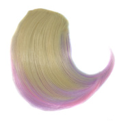 Abwin Blonde and Light Purple and Pink Buckle-style Oblique Bang