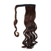 Abwin Dark Auburn hook and loop Wavy Ponytail Hair Extensions