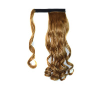Abwin Light Auburn hook and loop Wavy Ponytail Hair Extensions