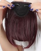 """Fashion 8""""(20cm) Bangs Clip in Hair Extensions Front Neat Wine Red Bangs Fringe Clip in Hair Extensions One Piece Striaght Hairpiece Accessories"""