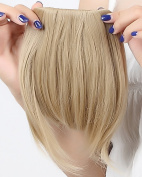 """Fashion 8""""(20cm) Bangs Clip in Hair Extensions Front Neat Ash Blonde Bangs Fringe Clip in Hair Extensions One Piece Striaght Hairpiece Accessories"""