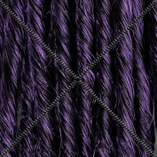 Doctored Locks Premade Synthetic Dreadlocks - Double Ended Hair Extensions - Natural Black/Dark Purple