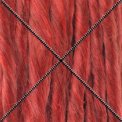 Doctored Locks Premade Synthetic Dreadlocks - Double Ended Hair Extensions - Red/Dark Copper Red
