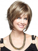 Marian® 0866 Synthetic Short Straight Fashion Layered Bob Wigs Healthy Women's Wigs-for Bald Women +A Free Wig Cap