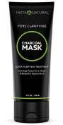 InstaNatural Charcoal Mask for Face - Best Activated Formula to Get Rid of Blackheads, Unclog Facial Pores & Clear Skin - Contains Charcoal Powder & China Clay to Deliver Visible Improvement - 120ml