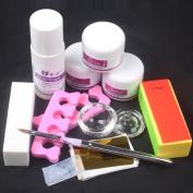 11 in 1 Nail Art Kit DIY Acrylic Liquid Powder Buffer Form Pen Dappen Dish Tools Kit 931#