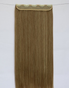 Straight 3/4 Full Head Synthetic Hair Extension Hairpieces with 5pcs Clips Mixed colours optional 70cm 140g # 10/86