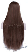 Liaohan® Fashion Long Straight Dark Brown Wig Natural Brown Hair Wig Full Head Cosplay Wig for Women