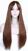 Liaohan® Fashion Brown Wig Long Straight Brown Hair Wig Natural Full Head Cosplay Wig for Women