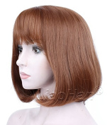 Liaohan® Fashion Short Wig Brown Straight Short Brown Hair Wig Natural Short Bob Wig for Women