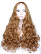Liaohan® Fashion Brown Wig Long Curly Brown Hair Wig Natural Full Head Cosplay Wig for Women
