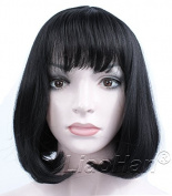 Liaohan® Fashion Black Short Wig Straight Short Black Hair Wig Natural Short Black Bob Wig for Women