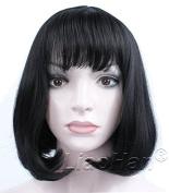 Liaohan® Fashion Black Short Wig Straight Short Black Hair Wig Natural Short Black Bob Wig for Women