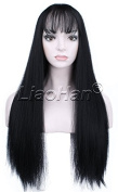 Liaohan® Fashion Black Wig Long Straight Black Hair Wig Natural Full Head Cosplay Wig for Women