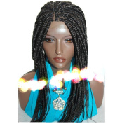 Gloryhair® Synthetic Braiding Hair Twist Lace Front Wigs Hand Made Tied Braided Heat Resistant Big Box Braids Wigs for Black Women