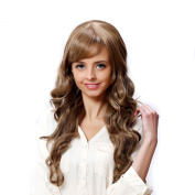 I's® Synthetic Long Wavy Hair Wigs with Side Babgs Gold Brown Heat Resistance 70cm Woman Wig