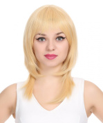 ZUUC Women's High Quality Long Streight Full Head Wig