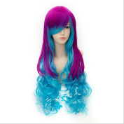 Longlove Long [Bright] European and American style gradient big wave long hair cosplay wig