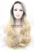 Heahair® Blonde Ombre Body Wave Synthetic Lace Front Wig