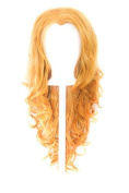 Aya - Honey Blond Wig 60cm Curly Layered Cut with Widow's Peak and no bangs