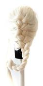 Elsa - Platinum Blond Wig 70cm French Braid with no Bangs