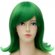 Green New Women Lady Long Straight Cosplay Anime Hair Full Wig + Cap Fancy Dress