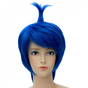 Inside Out Short Blue Straight Cosplay Anime Wig For Women Lady New + Wig Cap