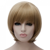 Women Men New Hot Short Straight Blonde Cosplay Anime Full Wig Heat Resistant