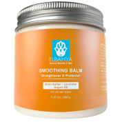 Organic Straightening Smoothing Balm for Hair - Multi-benefit Styling Balm with Shea Butter, Argan Oil and Lavender - Smoothes, Softens and Protects Hair From Heat Styling. 210ml