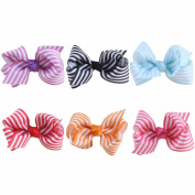 Candygirl Hair Bows Girls Kids Alligator Clip Grosgrain Ribbon Hair Clips