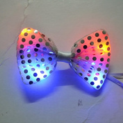 12 PC Light Up LED Silver Flashing Sequin Bow Ties Tie