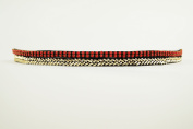 "Pink Pewter Authentic ""Drew"" Coral/Gold Beaded Double Stretch Band Headband Hair Jewellery"