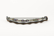 """Pink Pewter Authentic """"Kinsley"""" Green Multi Beaded Double Stretch Band Headband Hair Jewellery"""
