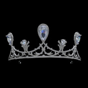 New 2016 Royal Crown Full AAA CZ Tiara Teardrop Bridal Wedding Hair Jewellery and Women Birthday Party Crowns TR15128