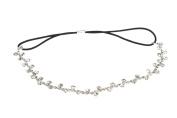 Fashion Women Rhinestone Crystal Flower Hair Band of Silver Colur