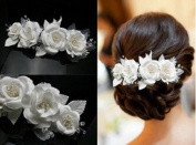 Sunshiny Hair Comb Pin Clip Bridal Prom Wedding Flower Hair Pins Bridal Accessories