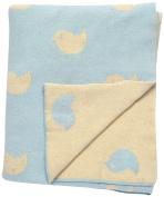 DARZZI Hello Birdie Baby Blanket, Blue, 90cm x 110cm