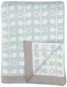 DARZZI Baby Leaf Baby Blanket, Blue, 90cm x 110cm
