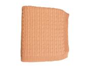 DARZZI Cable Knit Baby Blanket, Blush Pink, 90cm x 110cm
