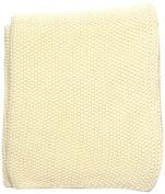 DARZZI Mini Moss Baby Blanket, Ivory, 90cm x 110cm
