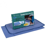 Frosty Pillow Gel Mat - Cooling Pillow Mat - Reduces Migraines, Hot Flashes and Fevers Soft & Flexible Slim Design Conforms to Your Body - ADULT SIZE - Includes Storage Cover