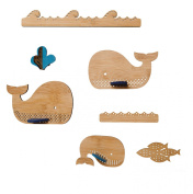 Petit Collage Deluxe Bamboo Mobile, Whale