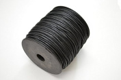 100 Metre Black Waxed Cotton Beading Cord String Roll 2mm