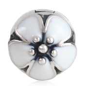 Hoobeads Authentic 925 Sterling Silver Charm Clip Stoppers Beads Fit Pandora Bracelets