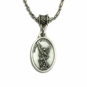 Archangel Saint Michael Protect Protection Medal Pendant with Chain Jewellery Made in Italy